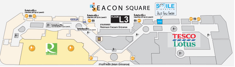 Map Smile Signature Srinagarindra (Seacon Square)